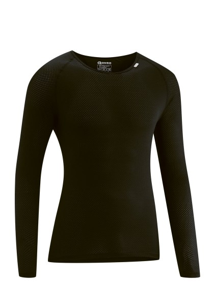 Gonso Herren Rad-Unterhemd Cuneo black langarm