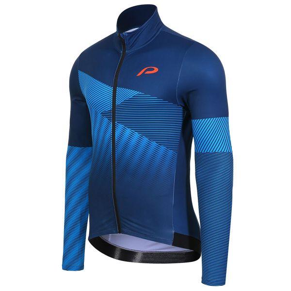 protective radtrikot straight edge blue
