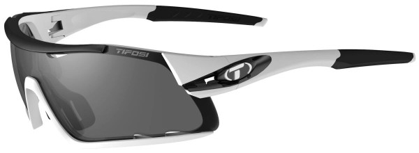 Tifosi Sportbrille Davos white/black smoke/AC red/clear