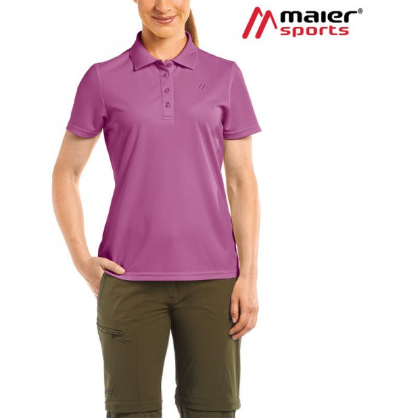 Maier Sports Ulrike Funktionspolo-Shirt Damen red violet