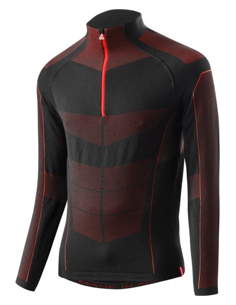 Löffler Herren Transtex®-Hybrid Skipulli schwarz/rot