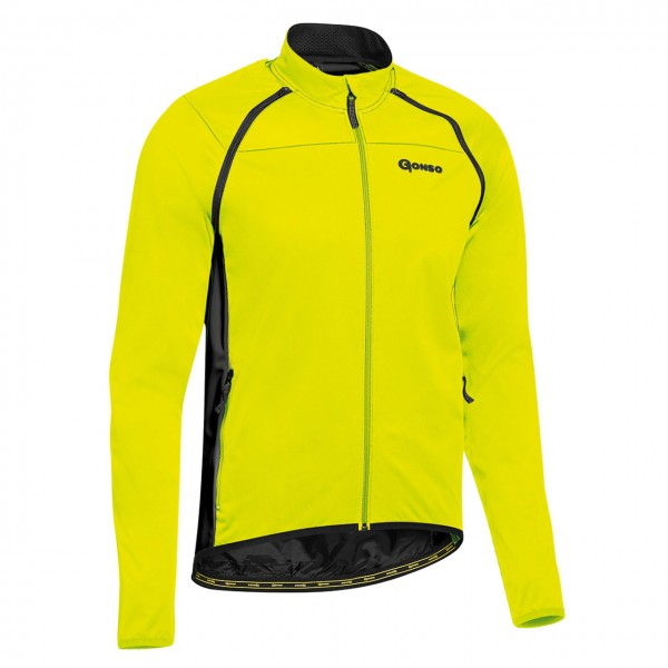 Gonso Deron Herren Softshell-Trikotjacke safety-yellow