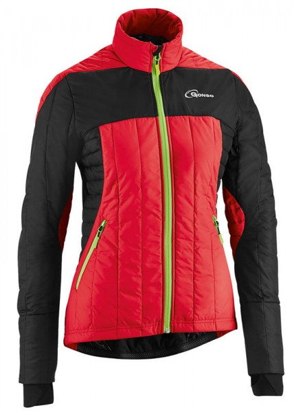 Gonso Gardner V3 Damen Thermo-Bike-Jacke fire