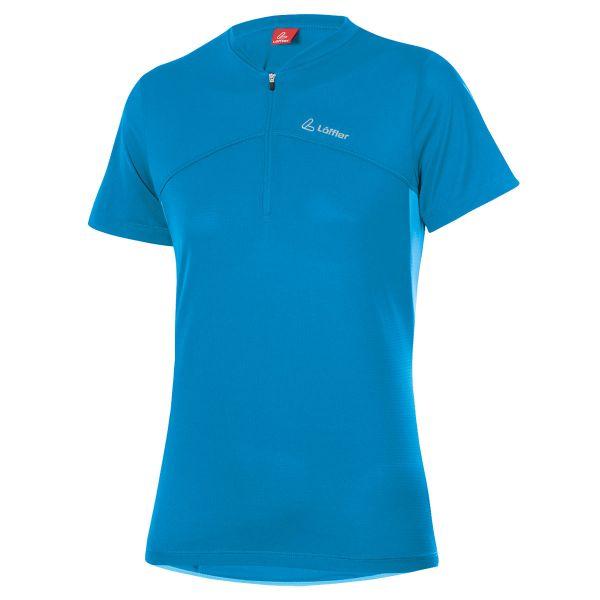 loeffler damen bike shirt alpha blue lake