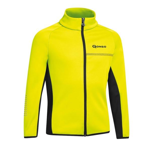 Gonso Kinder Softshelljacke Moritz safety yellow/black