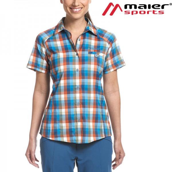 Maier Sports Halos Kurzarm-Bluse Damen mit Reflektorfäden