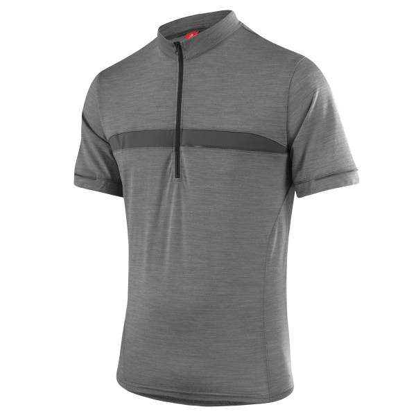 Löffler Herren Bike-Shirt Merino grey-melange