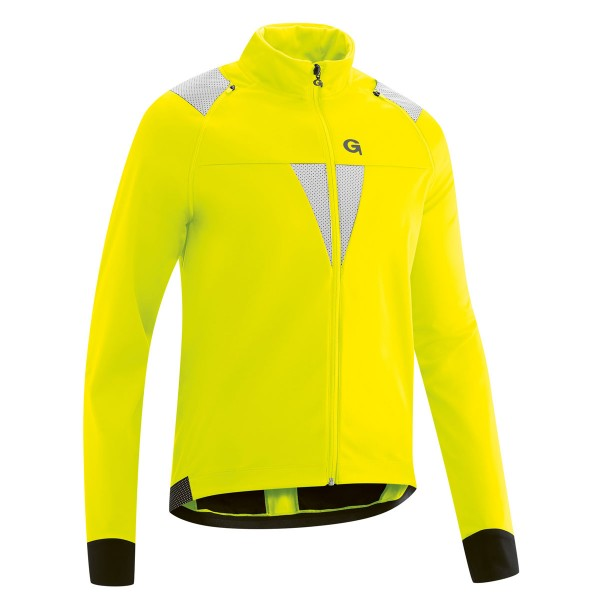 Gonso Asson Herren Zip-Off Softshell Jacke safety-yellow