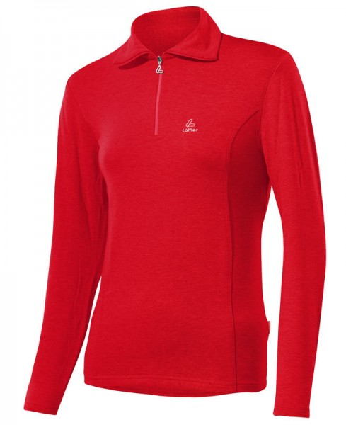 Löffler Damen Transtex®-warm Zip-Rolli Basic rot