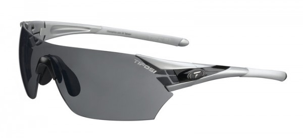 Tifosi Sportbrille Podium metallic silver smoke / AC red / clear
