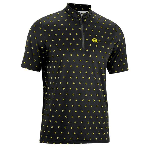 Gonso Herren Bikeshirt Peio black/yellow allover