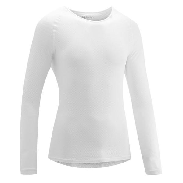 Gonso Herren Rad-Unterhemd Cuneo white langarm