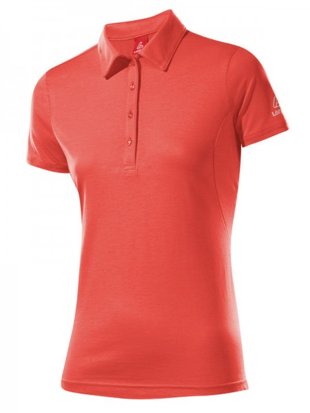 Löffler Damen Poloshirt Transtex® Single CF koralle