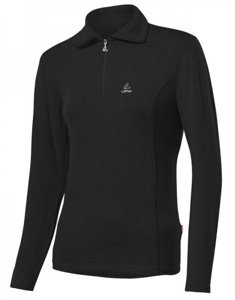 Löffler Damen Transtex®-warm Zip-Rolli Basic schwarz