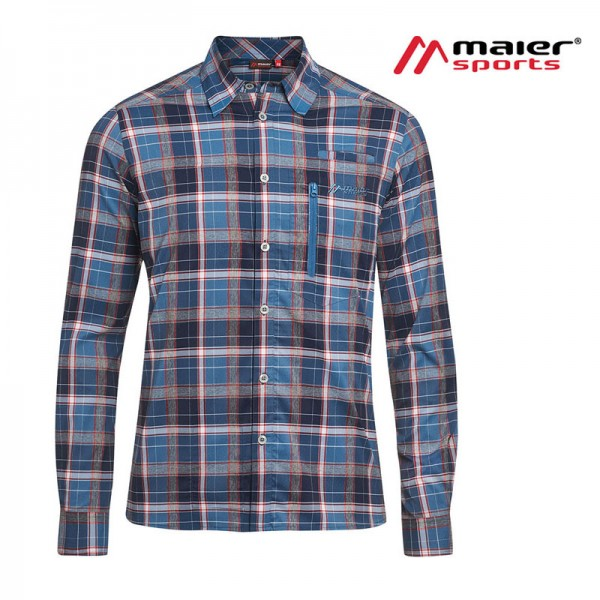Maier Sports Mats L/S Herren Hemd blue/red check