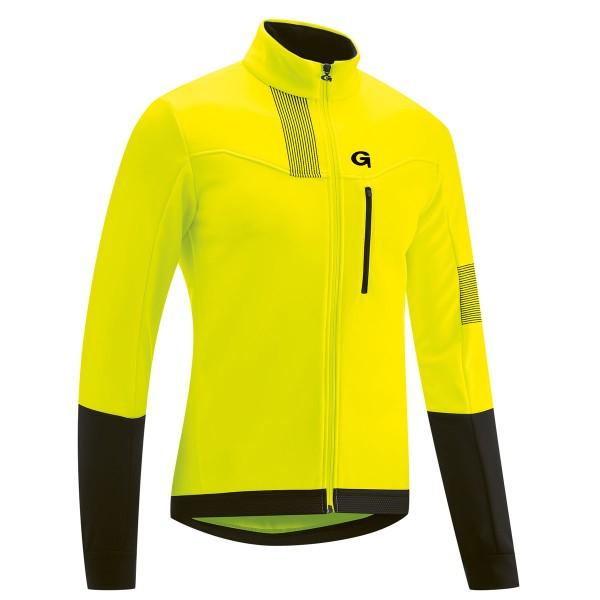 Gonso Valaff Herren Softshell Jacke safety yellow