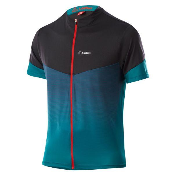 Löffler Herren Bike-Shirt FZ Stream pine