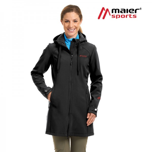 Maier Sports Mim Softshellmantel Damen black