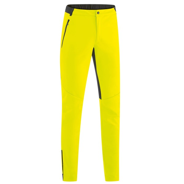 Gonso Odeon Herren Softshellhose ohne Polster safety yellow