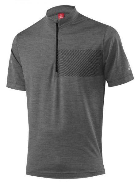 Löffler Herren Bike-Shirt Merino grey melange